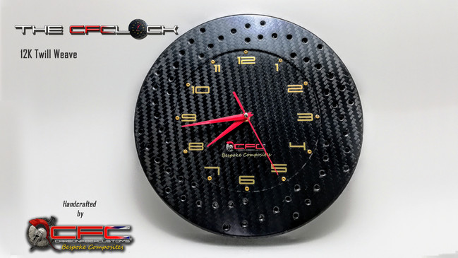 The CFClock 12K Weave