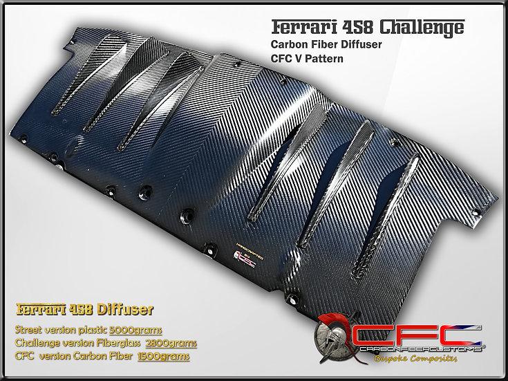 Ferrari 458 Italia / Challenge Carbon Fiber Diffuser