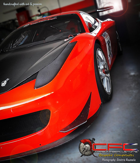 Ferrari Challenge 458 Carbon Fiber Splitter for Racing Bumper