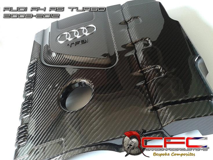 AUDI A4 A5 Mk3 Carbon Fiber Engine Cover