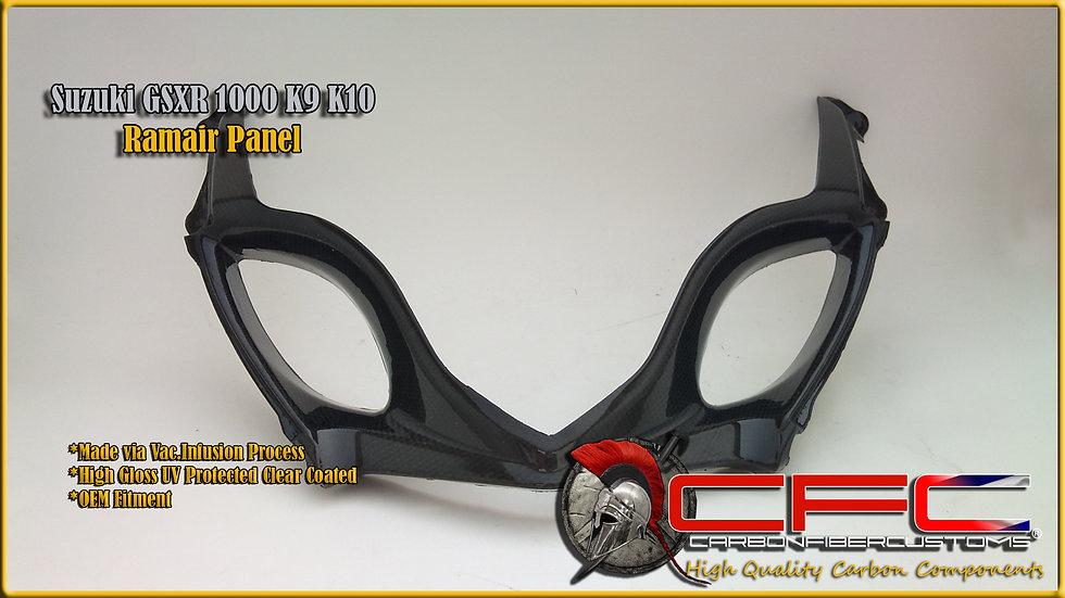 Suzuki GSXR 1000 K9 K10+ Carbon fiber Ramair Panel