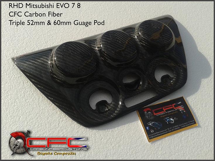 Mitsubishi Evo 7 8 9 RHD Carbon Fiber Console