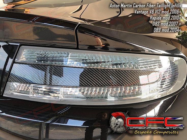 Aston Martin Carbon Fiber Taillight Inflills DB9 DBS Vantage Rapide