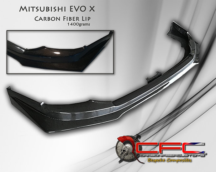 Mitsubishi EVO X Carbon Fiber Lip Spoiler