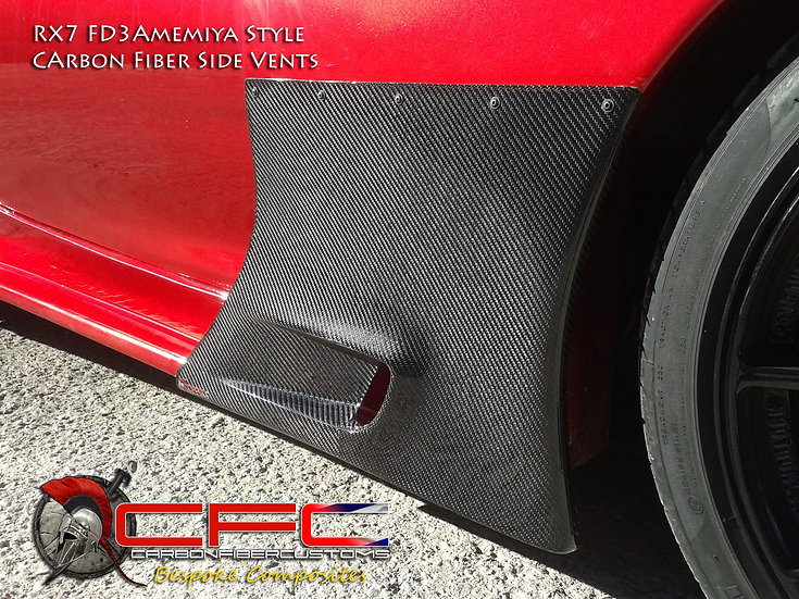 Mazda RX7 FD3 Amemiya Style Carbon Fiber Side Vents