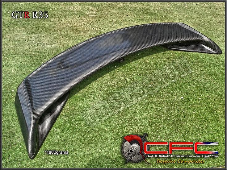 Nissan GTR R35 Carbon Fiber CFC Spoiler oem style