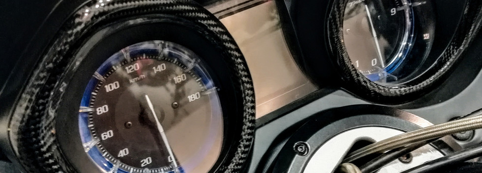 Yamaha Tmax 530 Tachometer & Speedometer Carbon Fiber Skinning by CFC