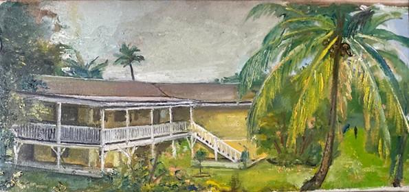 """Hawaii Beach House 8""""x 12 1/4"""""""