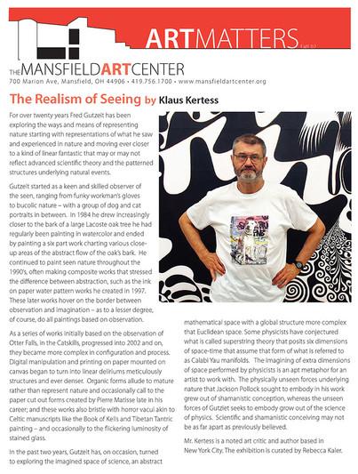 Mansfield Arts center Newsletter