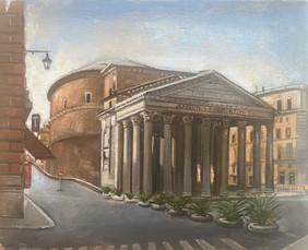 """The Parthenon Rome 8"""" x 9 1/2"""" 1996"""