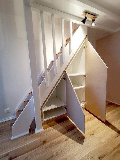 Dressing sous escaliers