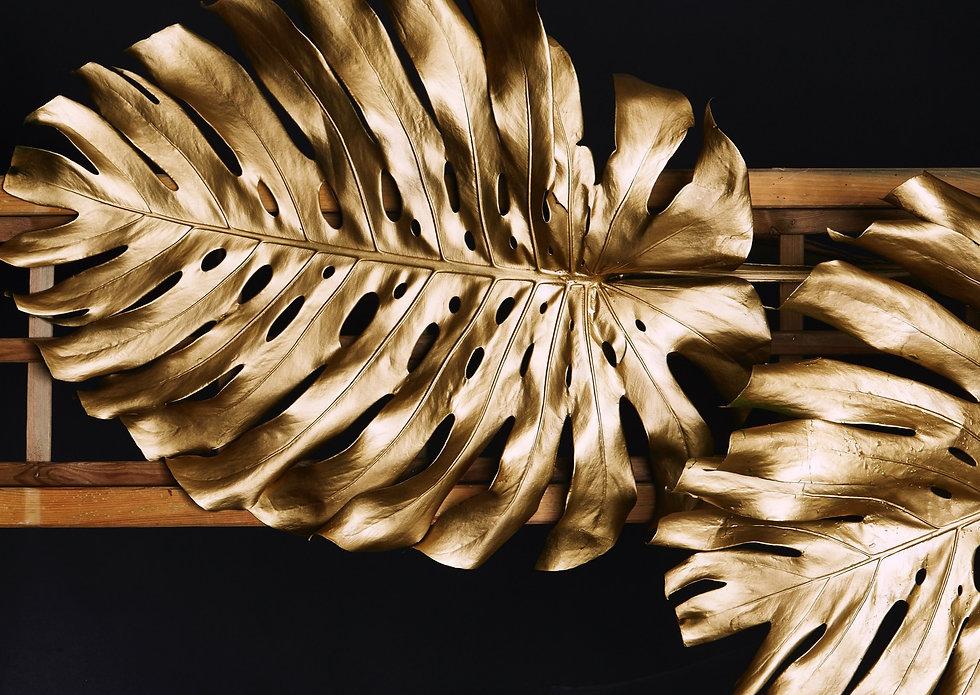 Gold Palm Leaf