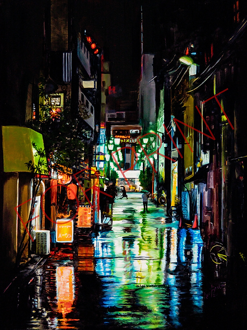 """""""Wet Streets"""" By Kari Barba -- Numbered and signed (of 50) High Quality Print"""