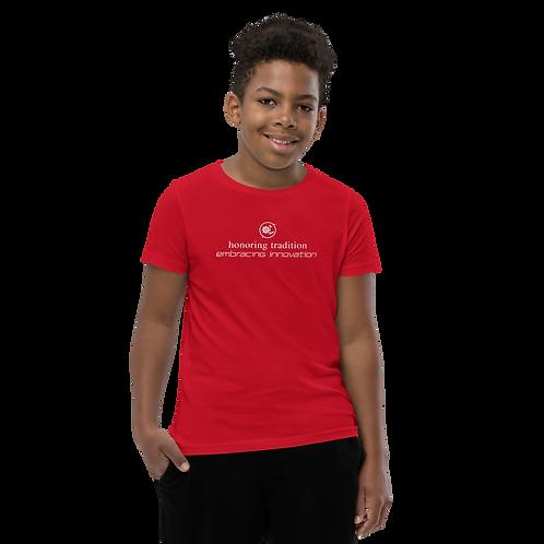 Youth Short Sleeve T-Shirt (White Ink)