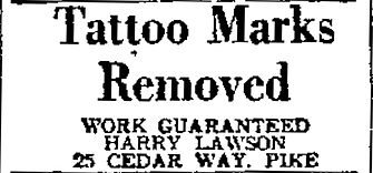 1947 LB INdependent Harry Lawson Tattoo