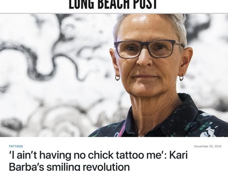 'I ain't having no chick tattoo me': Kari Barba's smiling revolution