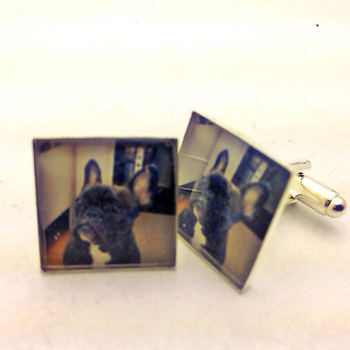 Resin photo cuflinks