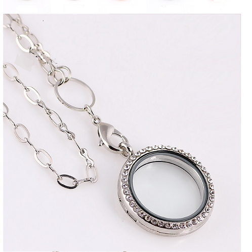 Floating Glass Locket Necklace