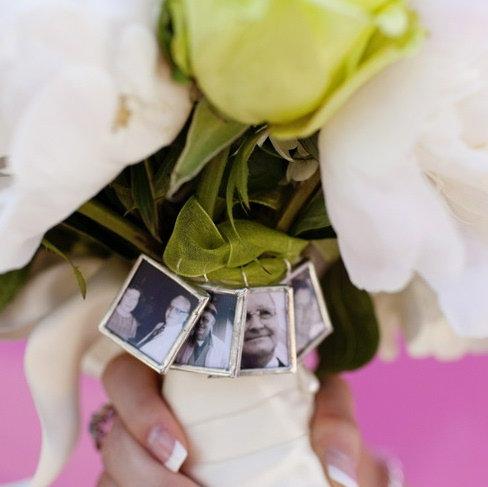 Custom WEDDING CHARM photo bouquet or pendant
