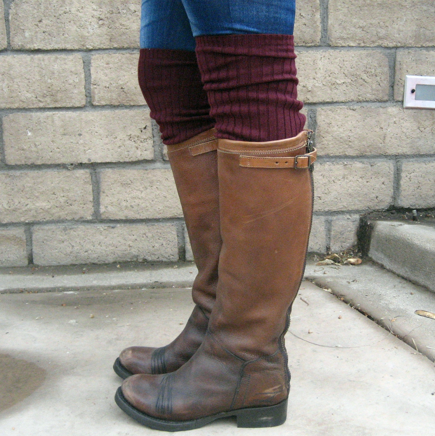 Rib knit bootsocks