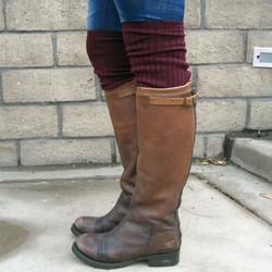 Rib knit bootsocks