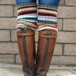 Striped bootsocks