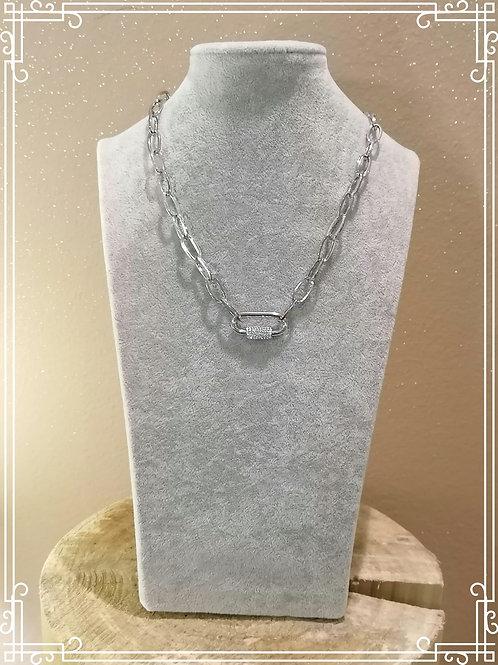 Girocollo moschettone acciaio nikel free