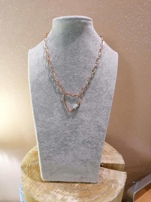 Girocollo cuore acciaio nickel free