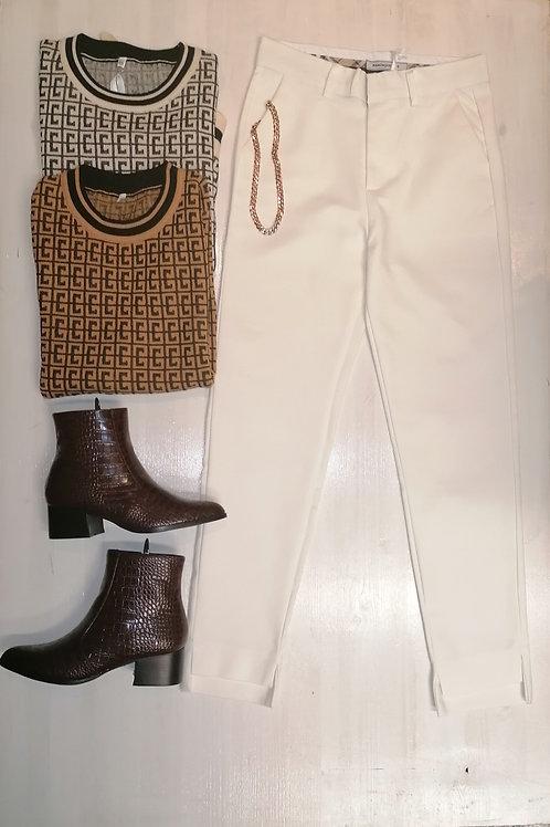 Pantalone bianco pronto moda