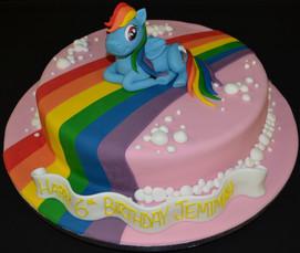 Round with rainbow my little pony.JPG