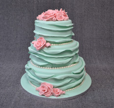 RUFFLED WEDDING CAKE WITH ROSES.JPG