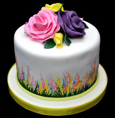 PAINTED FLORAL CAKE WITH ROSES.JPG