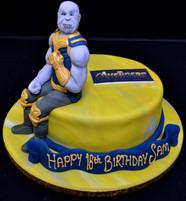AVENGERS THANOS CAKE.JPG