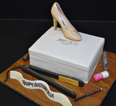 Jimmy Choos box with hair straighteners