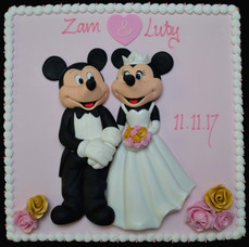 MICKEY AND MINNIE BRIDE AND GROOM SQUARE