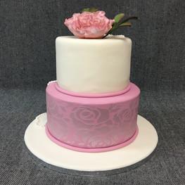 peony and print wedding cake.JPG