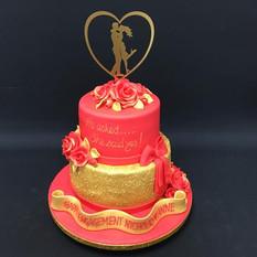 Sparkly engagement cake DD 8+6 (Copy).jp