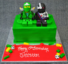 NINJAGO 3D FIGURES ON LEGO BRICK.JPG