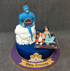 Genie from aladin with magic carpit and