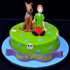 SCOOBY DOO AND SHAGGY 3D ON ROUND.JPG