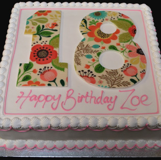 """Square with Printed Number.  8"""" - £37.00.  10"""" - £47.00"""