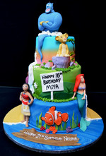 DISNEY TRIO CAKE.JPG