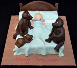 GOLDILOCKS AND THE THREE BEARS CAKE.JPG