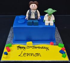 LEGO BRICK WITH LUKE SKYWALKER AND YODA.