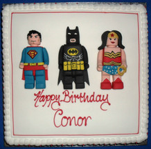 Superman Batman and wonder women lego on