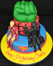 Iron man & Batman on duo with Hulk Fist.