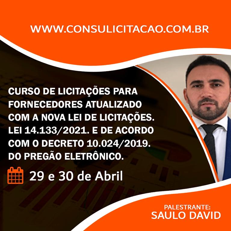 CURSO DE LICITAÇÕES PARA FORNECEDORES JÁ ATUALIZADO COM A NOVA LEI 14.133/2021 E DE ACORDO COM O DECRETO 10.024/2019