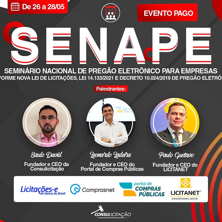 SENAPE- SEMINÁRIO NACIONAL DE PREGÃO ELETRÔNICO PARA EMPRESAS