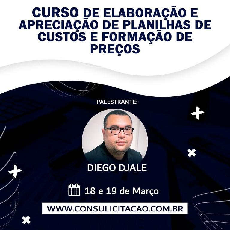 CURSO DE ELABORAÇÃO E APRECIAÇÃO DE PLANILHAS DE CUSTOS E FORMAÇÃO DE PREÇOS, CONFORME A IN 05/2017 E IN 07/2018.
