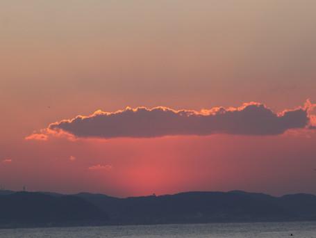 江の島からの初日の出です。